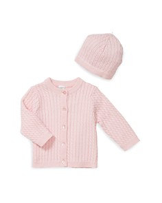 Little Me - Girls' Cable-Knit Cardigan & Hat - Baby