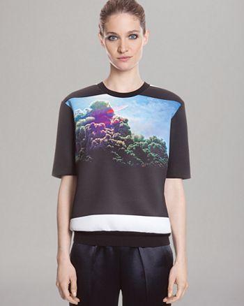 Sandro - Short Sleeve Graphic Print Sweatshirt