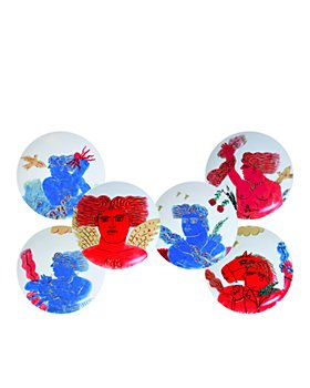 Bernardaud - L'Art de la Table Mythologie by Fassianos Coupe Plates, Set of 6