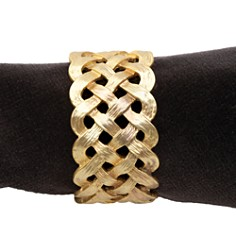 L'Objet Matte Gold Plated Braid Napkin Rings, Set of 4 - Bloomingdale's_0