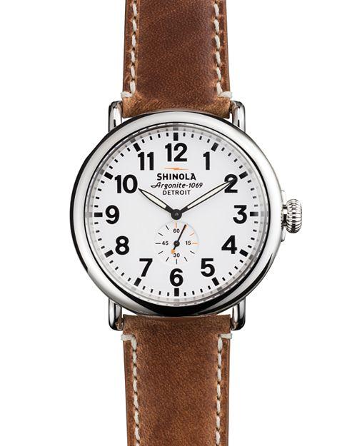 Shinola - The Runwell Brown Strap Watch, 47mm