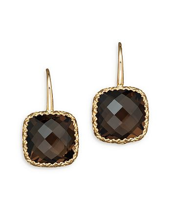 Bloomingdale's - 14K White Gold and Smoky Quartz Earrings - 100% Exclusive