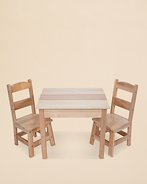 Melissa & Doug Wooden Table and Chairs Set - Ages 3-8