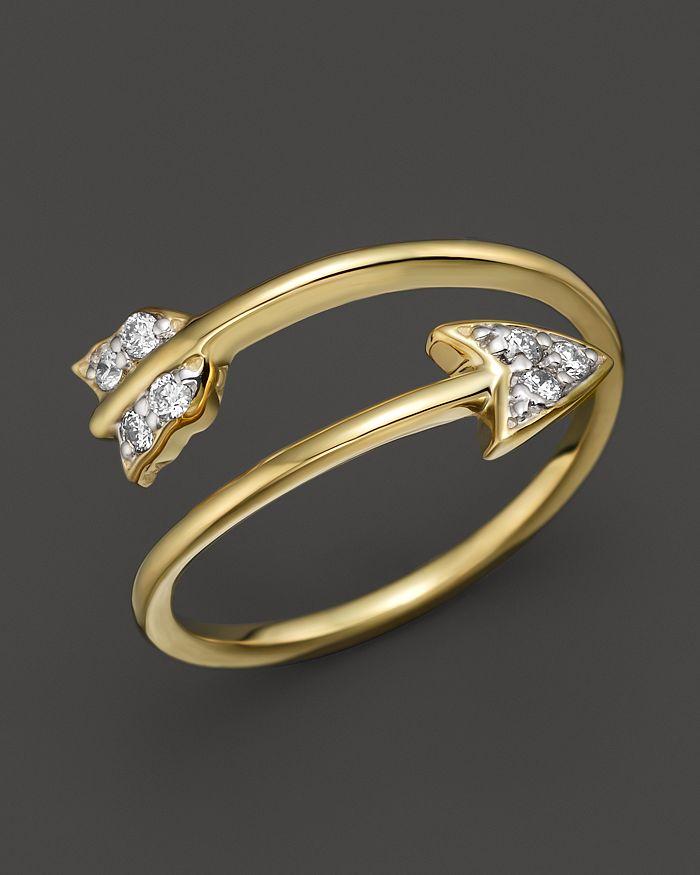 KC Designs - Diamond Arrow Ring in 14K yellow Gold, .09 ct. t.w.