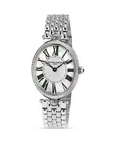 Frederique Constant - Art Deco Oval Steel Watch, 30 x 25mm