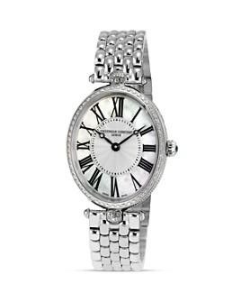 Frederique Constant - Art Deco Oval Steel Watch, 30 x 25mm