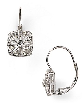Nadri - Vintage Square Leverback Earrings