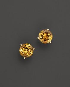 Citrine Round Stud Earrings in 14K Yellow Gold - 100% Exclusive - Bloomingdale's_0
