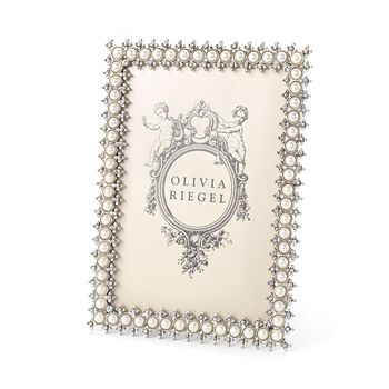 "Olivia Riegel - Crystal & Pearl Frame, 5"" x 7"""