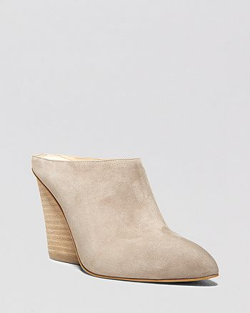 STEVEN BY STEVE MADDEN - Pointed Toe Wedge Mule Pumps - Merciie