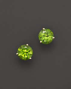 Peridot Round Earrings in 14K Yellow Gold - 100% Exclusive - Bloomingdale's_0