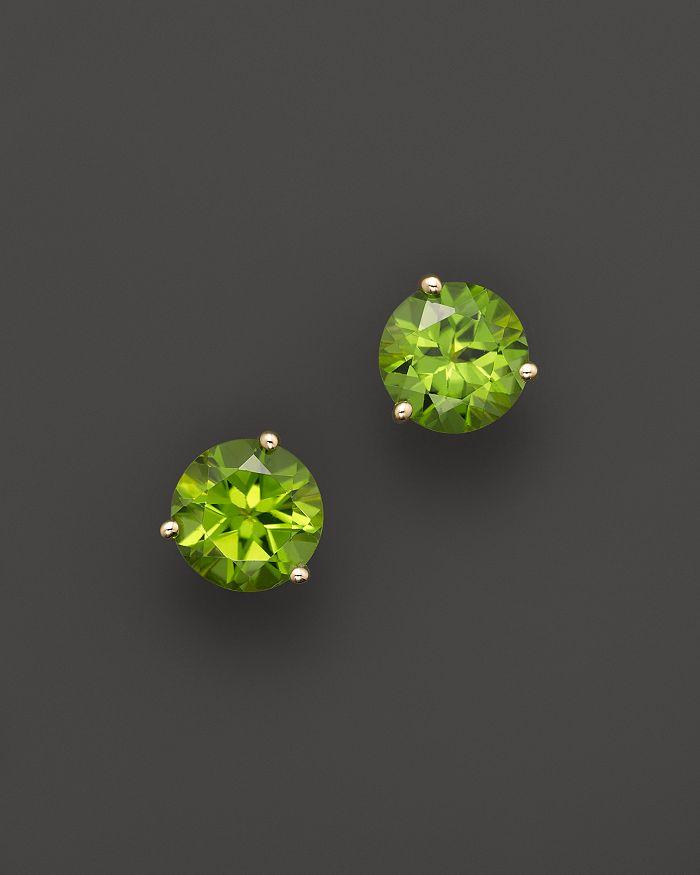 Bloomingdale's - Peridot Round Earrings in 14K Yellow Gold- 100% Exclusive