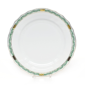 Herend Chinese Bouquet Garland Green Dinner Plate