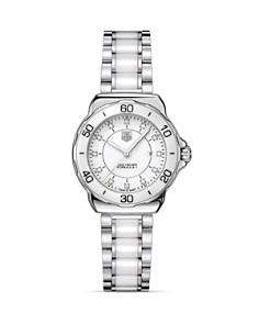 TAG Heuer Formula 1 Stainless Steel and White Ceramic Watch With Diamonds, 32mm - Bloomingdale's_0