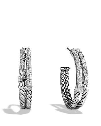 David Yurman - Labyrinth Hoop Earrings with Diamonds