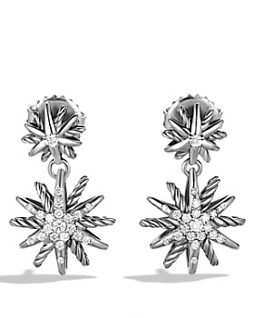 David Yurman - Starburst Double-Drop Earrings with Diamonds