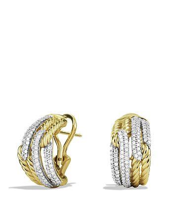 David Yurman - Labyrinth Double-Loop Earrings with Diamonds