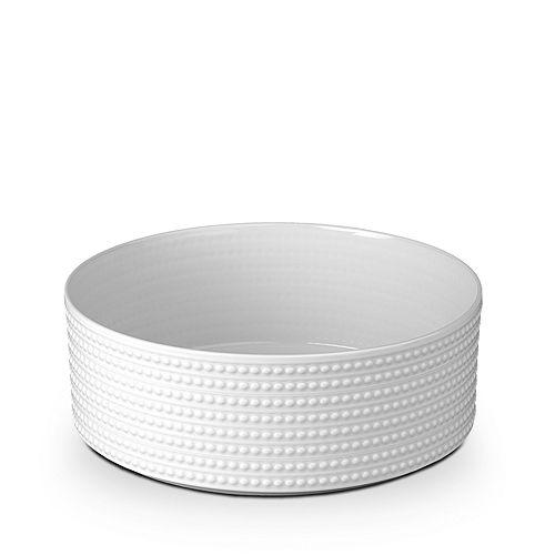 L'Objet - Perlee White Vertical Bowl