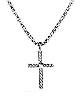 David Yurman - Cable Classics Cross Necklace with Diamond