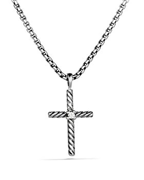 David Yurman - Cable Classics Cross Necklace with Diamond