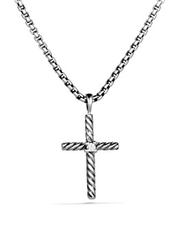 David Yurman - Cable Classics Cross with Diamond