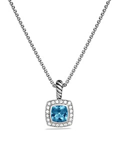 David Yurman Petite Albion Pendant with Colored Gemstone & Diamonds on Chain - Bloomingdale's_0