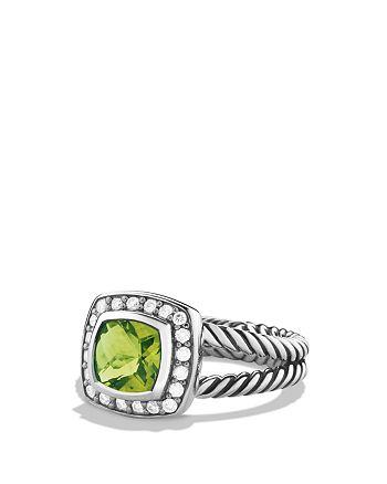 David Yurman - Petite Albion Ring with Peridot & Diamonds