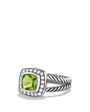 David Yurman Petite Albion Ring with Peridot & Diamonds