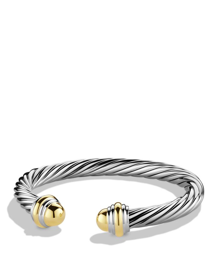 David Yurman Cable Classic Bracelet with 14K Yellow Gold  | Bloomingdale's