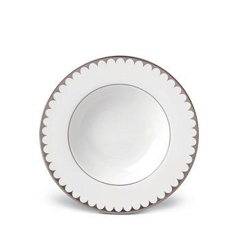 L'Objet - Aegean Platinum Filet Rimmed Soup Plate
