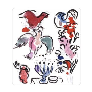 Bernardaud Marc Chagall Asher Tribe Rectangular Tray