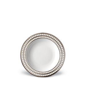 L'Objet Perlee Platinum Soup Plate