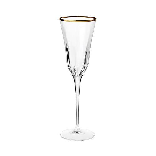 VIETRI - Optical Gold Champagne Glass