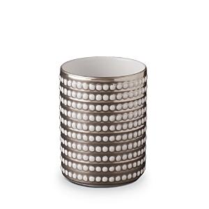 L'Objet Perlee Platinum Short Vase