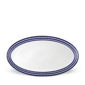 L'Objet Perlee Bleu Oval Platter, Large