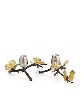 Michael Aram - Butterfly Gingko Candleholder, Set of 2
