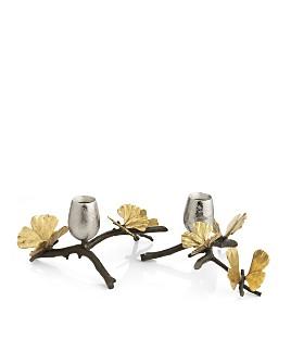 Michael Aram - Michael Aram Butterfly Gingko Candleholder, Set of 2