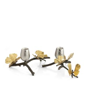 Michael Aram Butterfly Ginkgo Candleholder, Set of 2