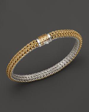 John Hardy Classic Chain Gold & Silver Small Reversible Bracelet