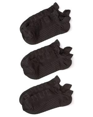 Hue Air Sleek Tab Socks, Set of 3