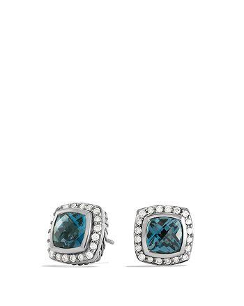 David Yurman - Petite Albion Earrings with Hampton Blue Topaz & Diamonds