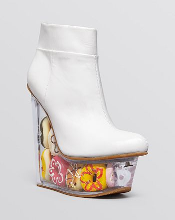 Jeffrey Campbell - Platform Wedge Booties - Icy Doughnuts