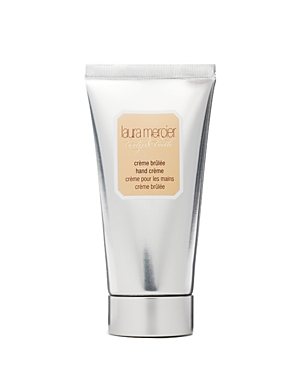 Laura Mercier Hand Creme is an amazingly rich creme that never leaves a greasy film on the hands. Grape & Olive Oils soften & moisturize, while soy proteins rich in amino acids help in the repair process. Fragrance is a deep rich caramel with nuances of sugar, vanilla & musk.