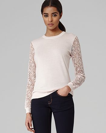 REISS - Sweater - Lace Sleeve