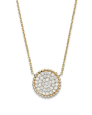 Diamond Pave Disk Pendant in 14K Yellow Gold, .55 ct. t.w. - 100% Exclusive