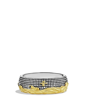 David Yurman Waves Signet Ring with Gold