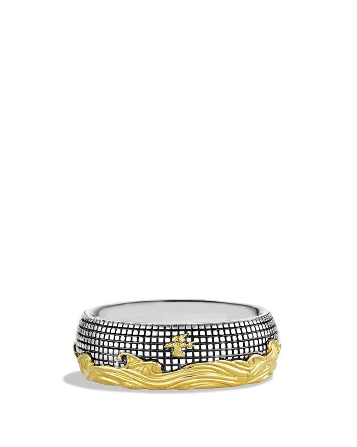 David Yurman Waves Signet Ring with Gold  | Bloomingdale's