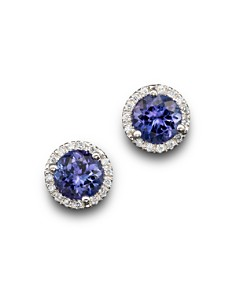carat tanzanite studs wg with urica earrings cut and si gold in z tz diamond white product earring d cushion