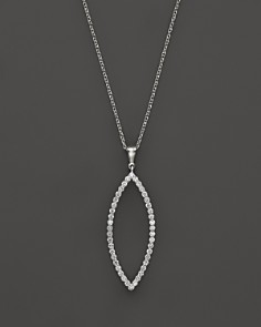 "Roberto Coin 18K White Gold Diamond Open Pendant Necklace, 18"" - Bloomingdale's_0"