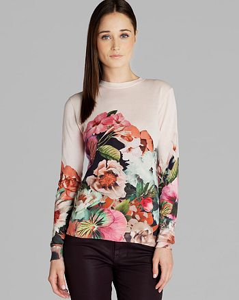 bdc6f41ff Ted Baker - Sweater - Ivorry Tangled Floral Print